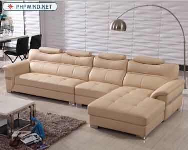 F956 leather sofa
