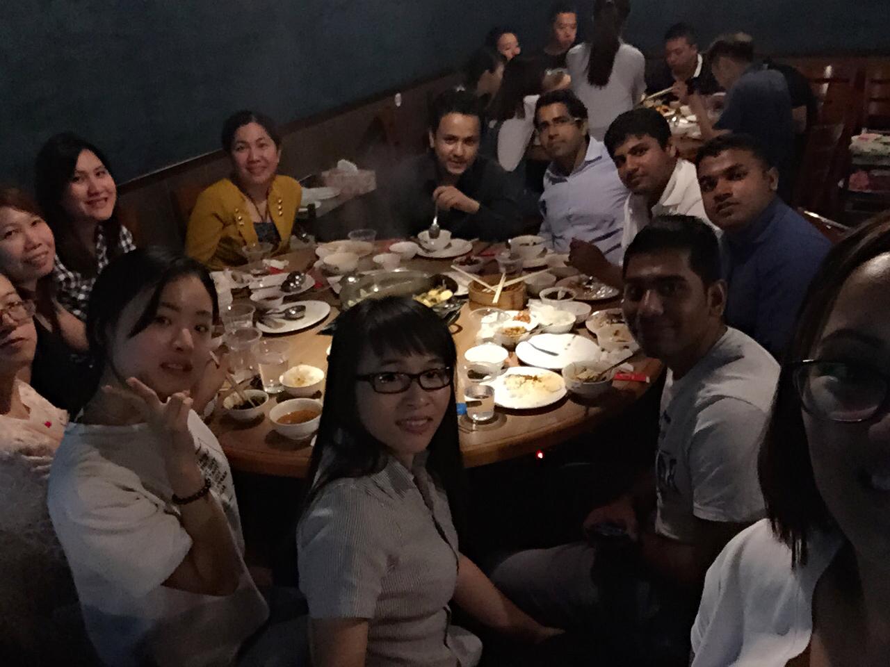 生日跟同事吃火锅