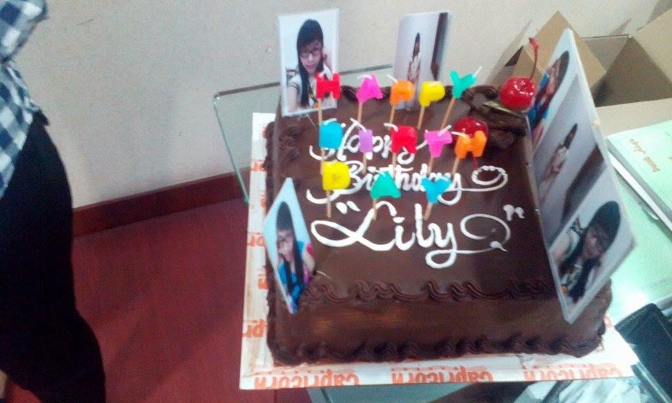 同事准备的生日蛋糕